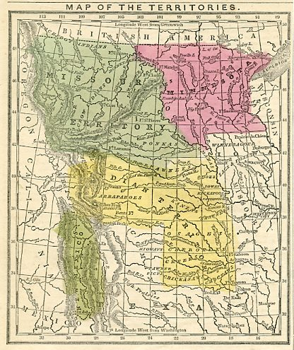 Territory Map - Missouri and Minnesota