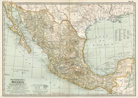 Mexico, Central America and Caribbean Maps