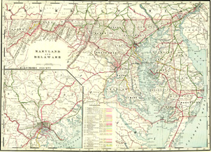 Railroad Map - Maryland and Delaware (No. 40320082)