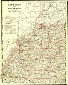 Railroad Map - Kentucky/Tennessee (No. 40320240)