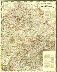 Railroad Map - Kentucky/Tennessee (No. 40320244)