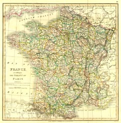 Antique World Map - France (No. 40440010)