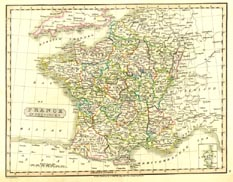 Antique World Map - France (No. 40440011)