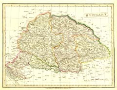 Antique World Map - Hungary (No. 40440025)