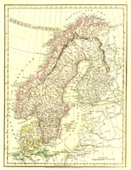 Antique World Map - Sweden (No. 40440026)