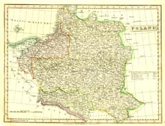Antique World Map - Poland (No. 40440029)