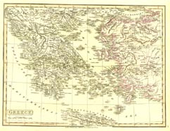 Antique World Map - Greece (No. 40440033)