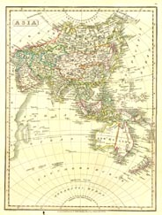Antique World Map - Asia (No. 40440034)