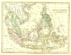 Antique World Map - East India (No. 40440042)