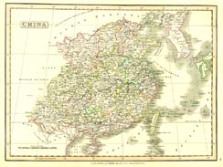 Antique World Map - China (No. 40440043)