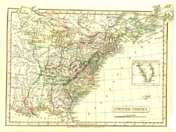 Antique World Map - United States (No. 40440050)