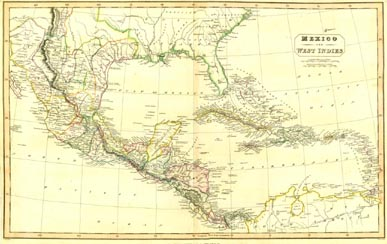 Antique World Map - Mexico (No. 40440051)