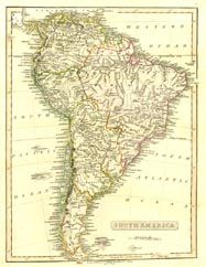 Antique World Map - South America (No. 40440053)