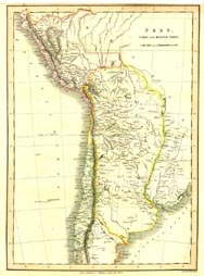 Antique World Map - Peru (No. 40440055)