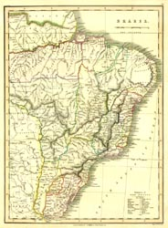 Antique World Map - Brazil (No. 40440056)