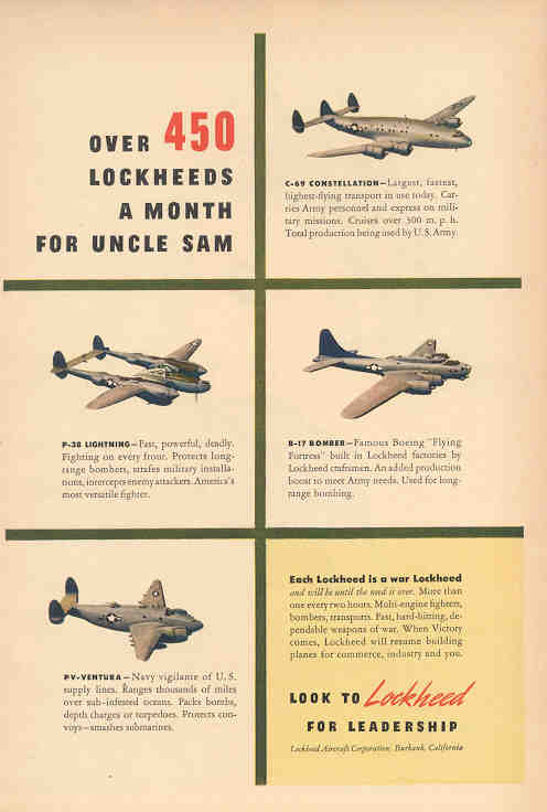 Over 450 a Month for Uncle Sam (Lockheed)