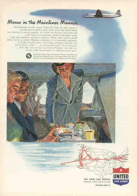 Menus in the Mainliner Manner (United)
