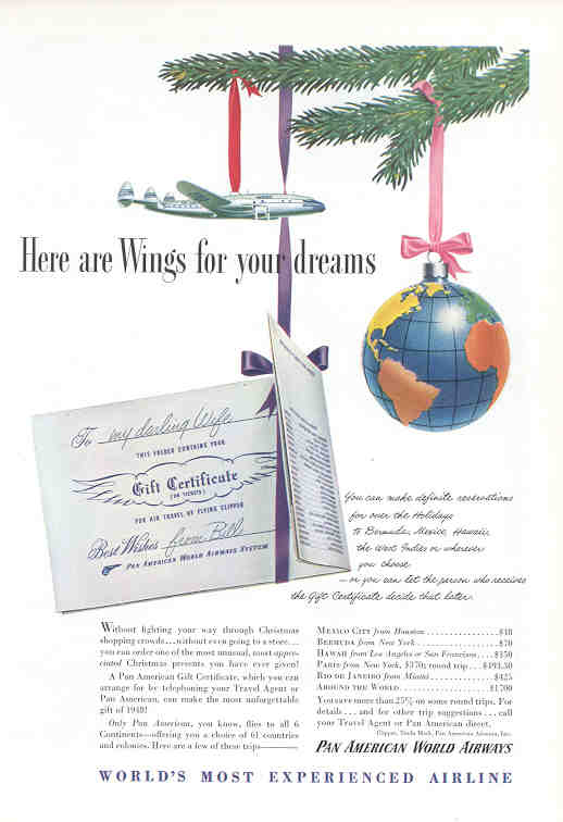 Here are Wings for your dreams (Pan Am)