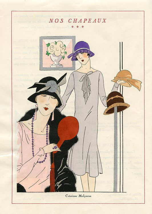 Hat Designs by Molyneux (January 1926)