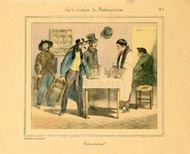 Grandville Prints - Carte vivante du Restaurater (No. 61260002)