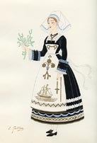 French Provincial Costume Print (No. 61290001)