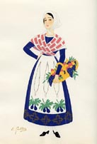 French Provincial Costume Print (No. 61290002)