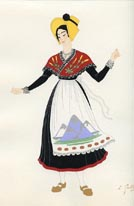 French Provincial Costume Print (No. 61290026)
