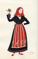 French Provincial Costume Print (No. 61290029)