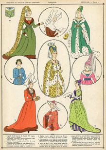 French Middle Ages Fashion Print (No. 61540101)