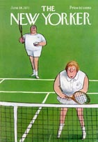 New Yorker Covers - Tennis (No. 69710619)