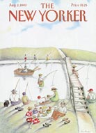 New Yorker Cover - Fishing (No. 69820802)