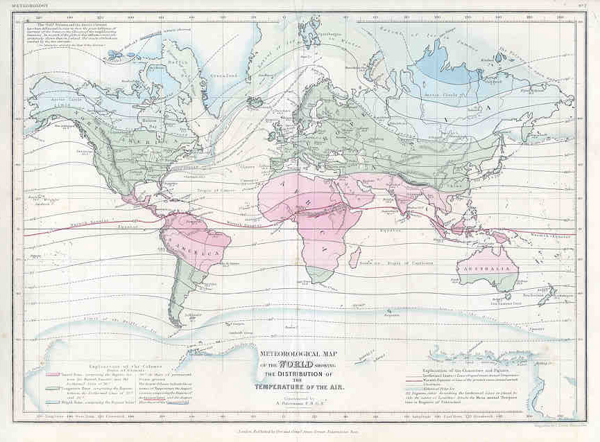 Meteorological Map of the World