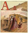 Railroad Alphabet Print (No. 70680001)